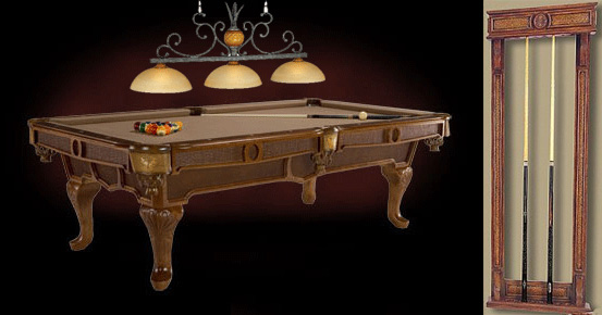 Special Combo with pool table , light and cue rack!