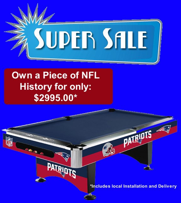 New England Patriots Pool Table