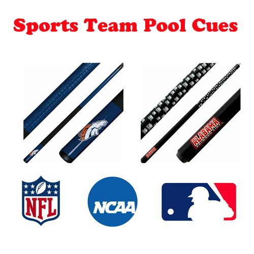 Sports Team Pool Cues