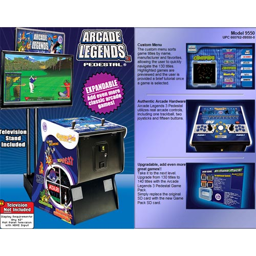 Arcade Legends 3 Pedestal Version also available