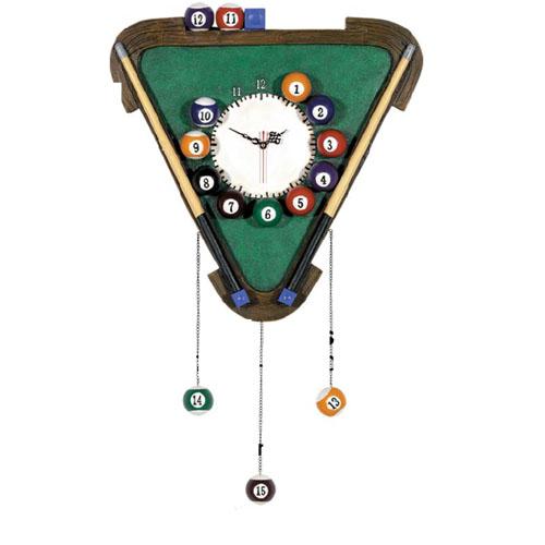 Billiards Clock with Balls
