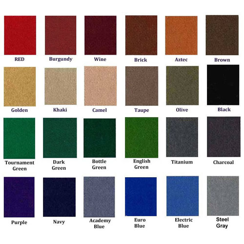 Popular Cloth choices. Many other colors available.