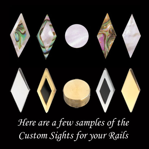 Here are a few samples of the Custom Sights for your Rails
