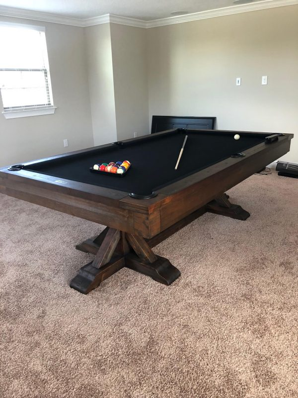 Thomas Pool Table in Customer Home