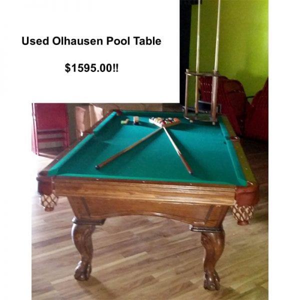 8' USED OLHAUSEN SLATE POOL TABLE
