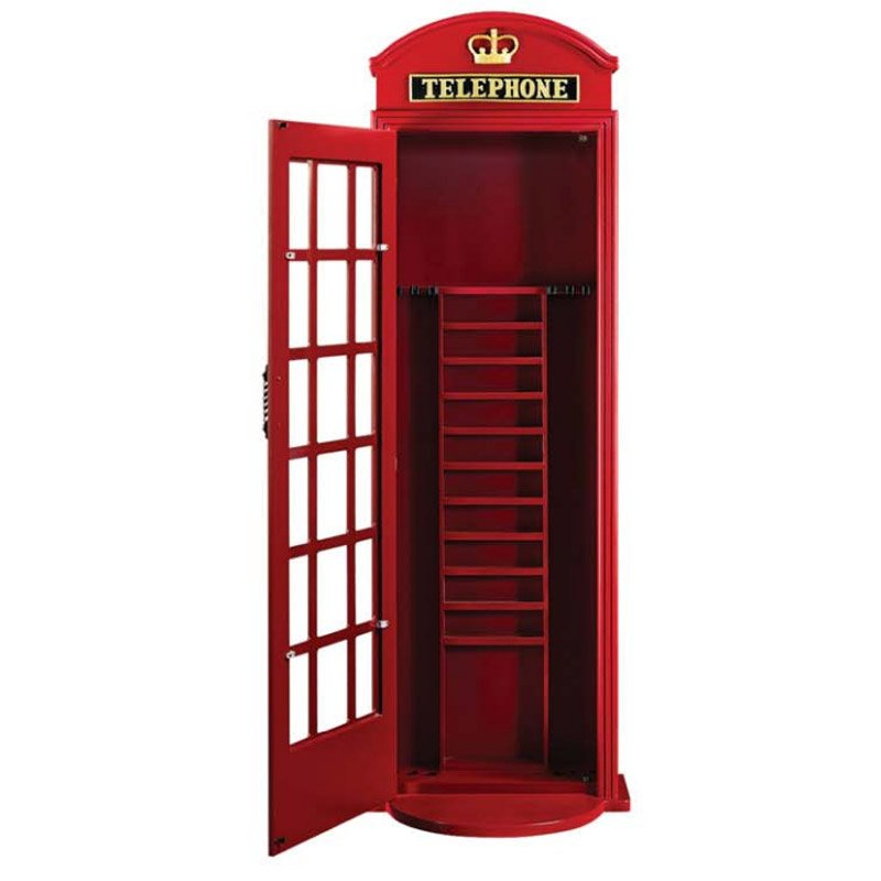 OLD ENGLISH TELEPHONE BOOTH CUE RACK